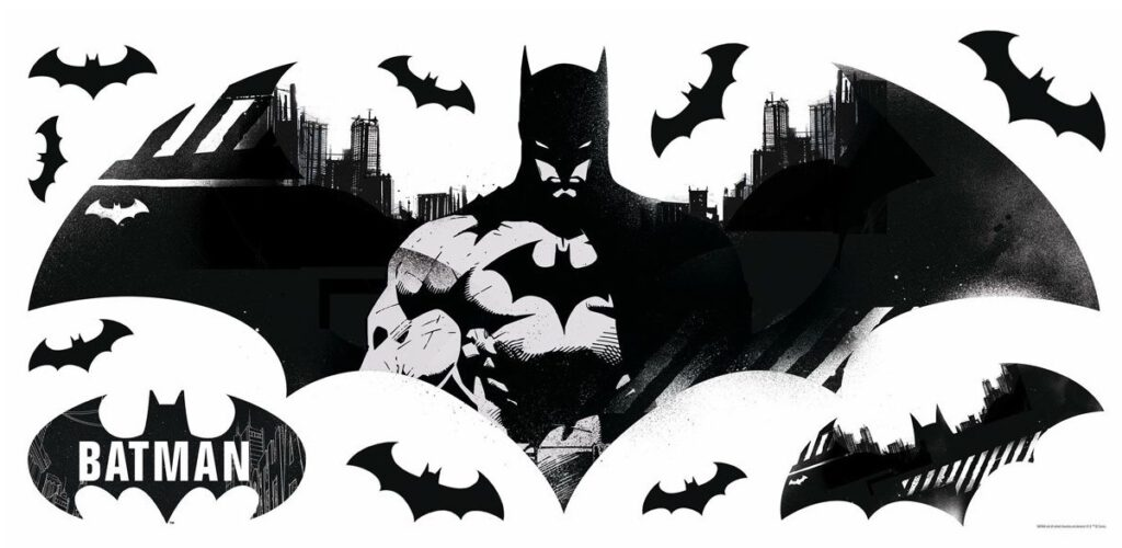 RoomMates Batman Emblems Peel and Stick Giant Wall Decals