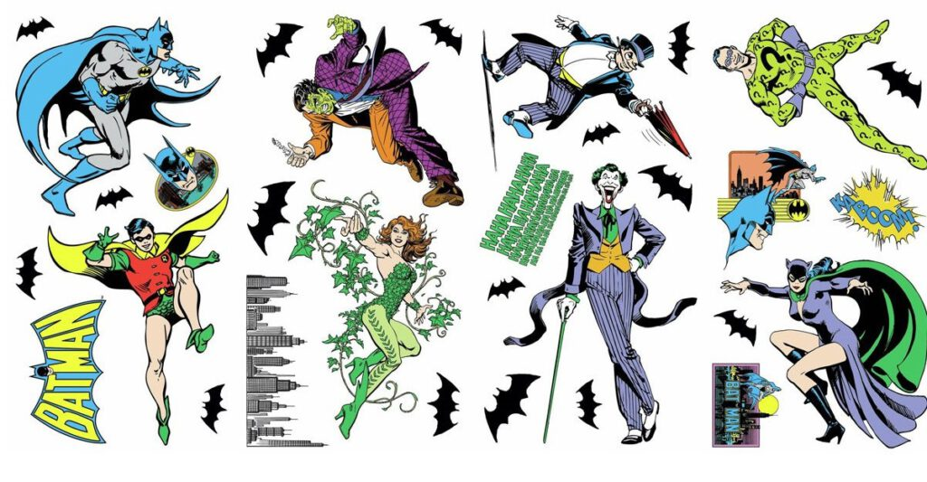 RoomMates Batman Villains Peel and Stick Decals