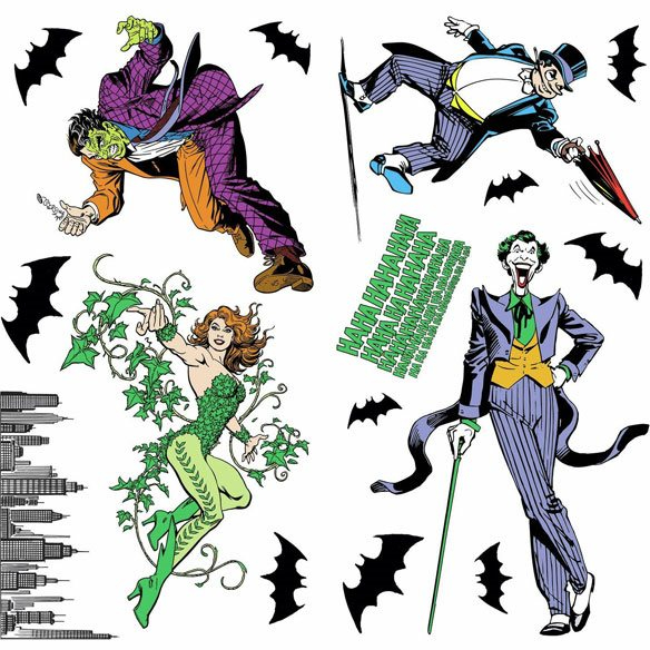 Batman Peel and Stick Decals